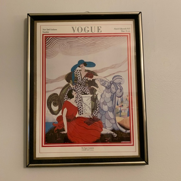 Vogue Other - Vintage Vogue Magazine Cover Poster March 1923